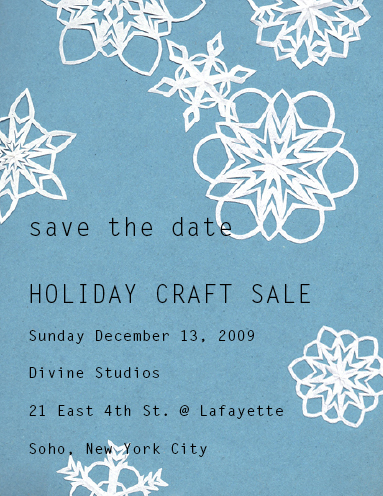 Craft sale save the date