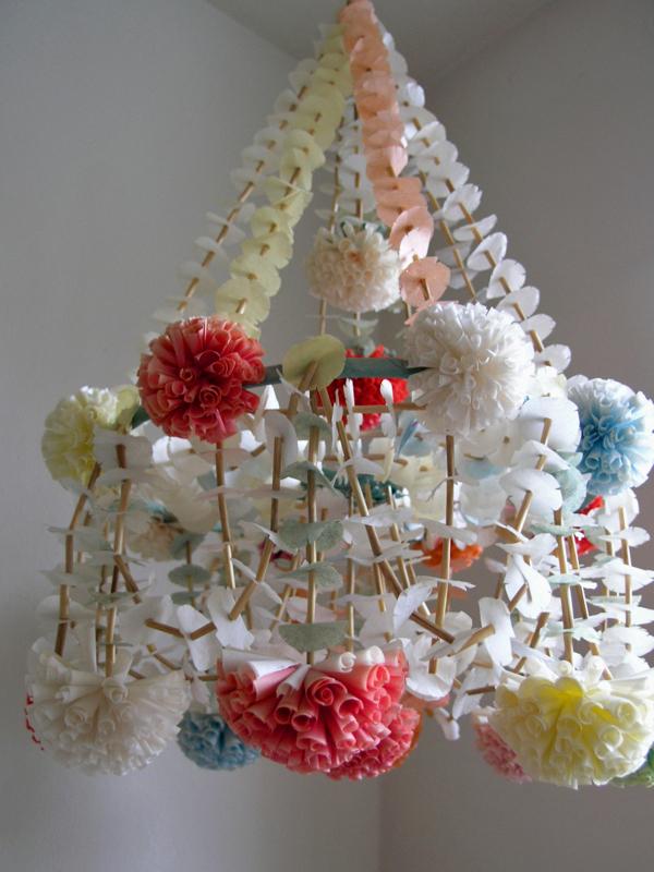 wren handmade paper chandelier craze